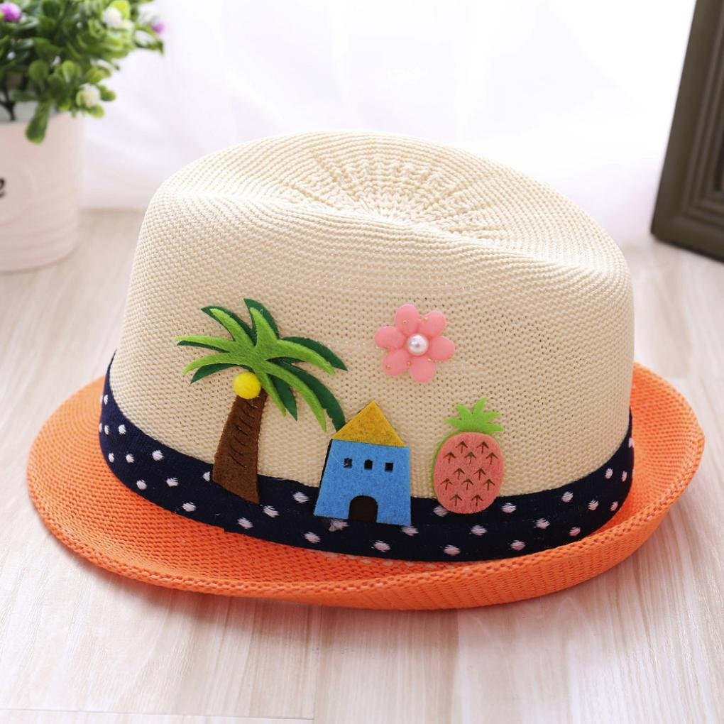 1fa8ec2399f Hongxin Summer Baby Hat Fashion Cap Children Breathable Hat Show Kids Hat  Boy Girls Hats Casual Beach Party Unisex Caps Embroidery Coco Styles  Creative Gift ...