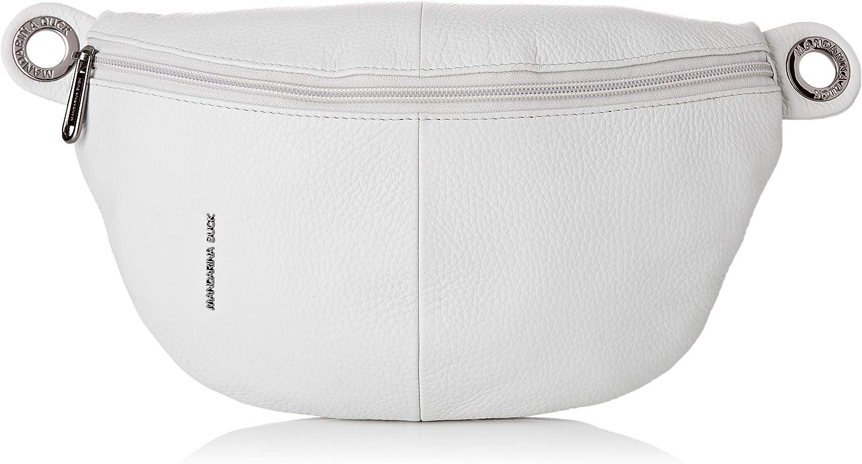 Mandarina Duck Mellow Leather Bum Bag, Bolsa de mensajero para Mujer, Rosa, 10x16x30 Centimeters (W x H x L)