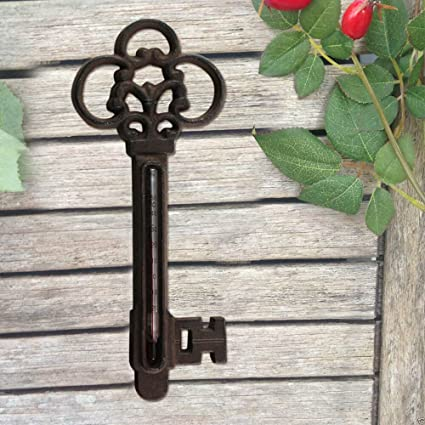 Hierro fundido Diseño Jardín Cobertizo thermometer- Vintage mountable- Monitor Temperatura ideal para las plantas