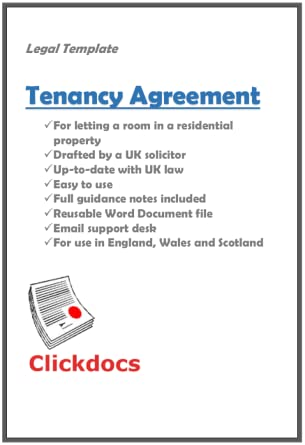 Tenancy Agreement Room Legal Template Download Amazon Co Uk