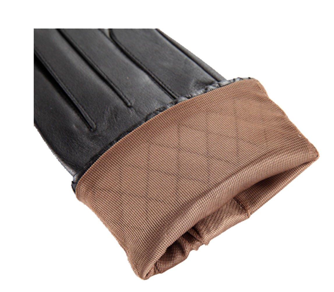 High Quality Leather Gloves for Women Winter Sheepskin Gloves Black Thin