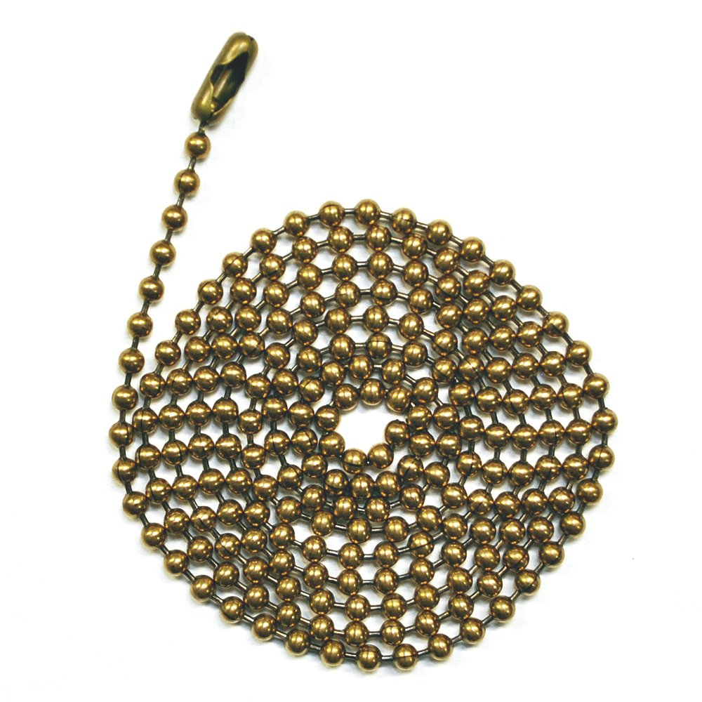 4350427798 #6 Size Inc Ball Chain Manufacturing Co 3 Pack Antique Brown 3 Foot Length Ball Chains with Matching Connectors