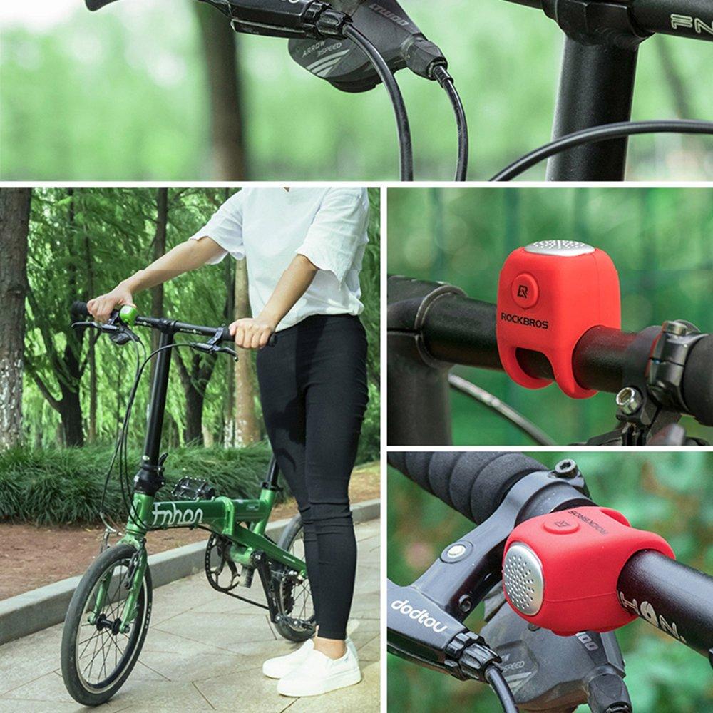 Lixada Corno per Bicicletta Resistente allAcqua e Allarme Ciclismo Allarme Campane per Bicicletta Anello Acustico 3Sound Corno Elettrico