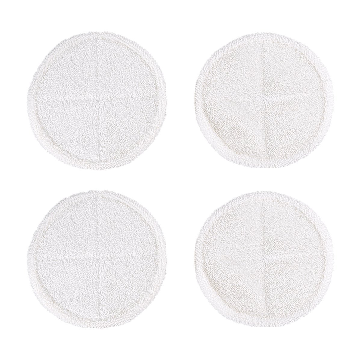 ECOMAID 4 Pcs Soft Touch Mop Pads Replacement for Bissell Spinwave 2039A 2124 Powered Hard Floor Mop