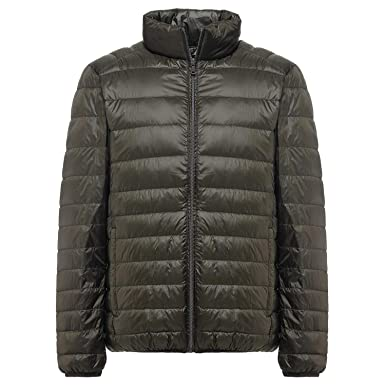 Winter Down Jacket Men White Duck Down Jacket Stand Collar ...