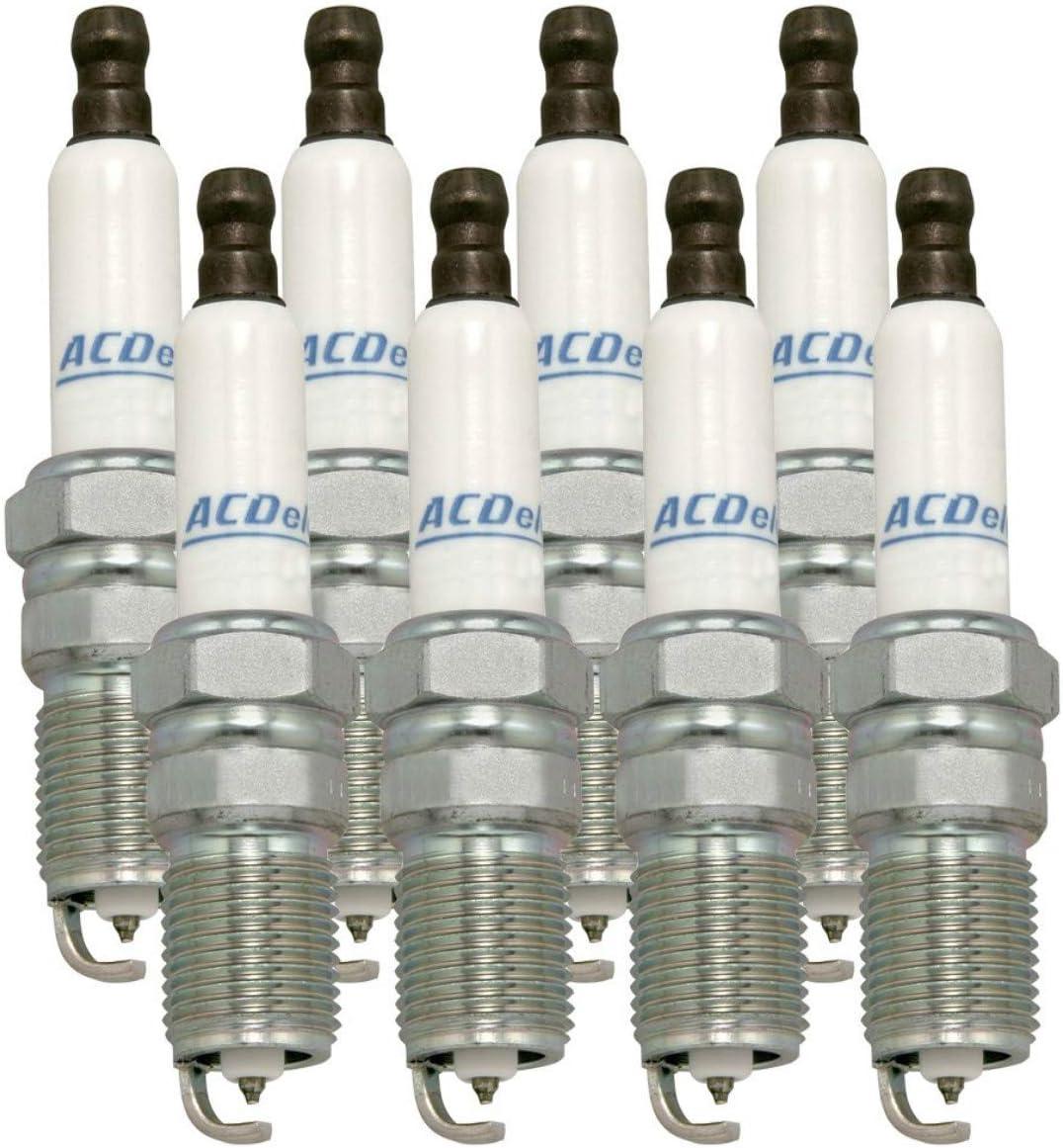 AC Delco 41-962 Professional Platinum Spark Plug for GMC Sierra Chevrolet Silverado 8-Pack