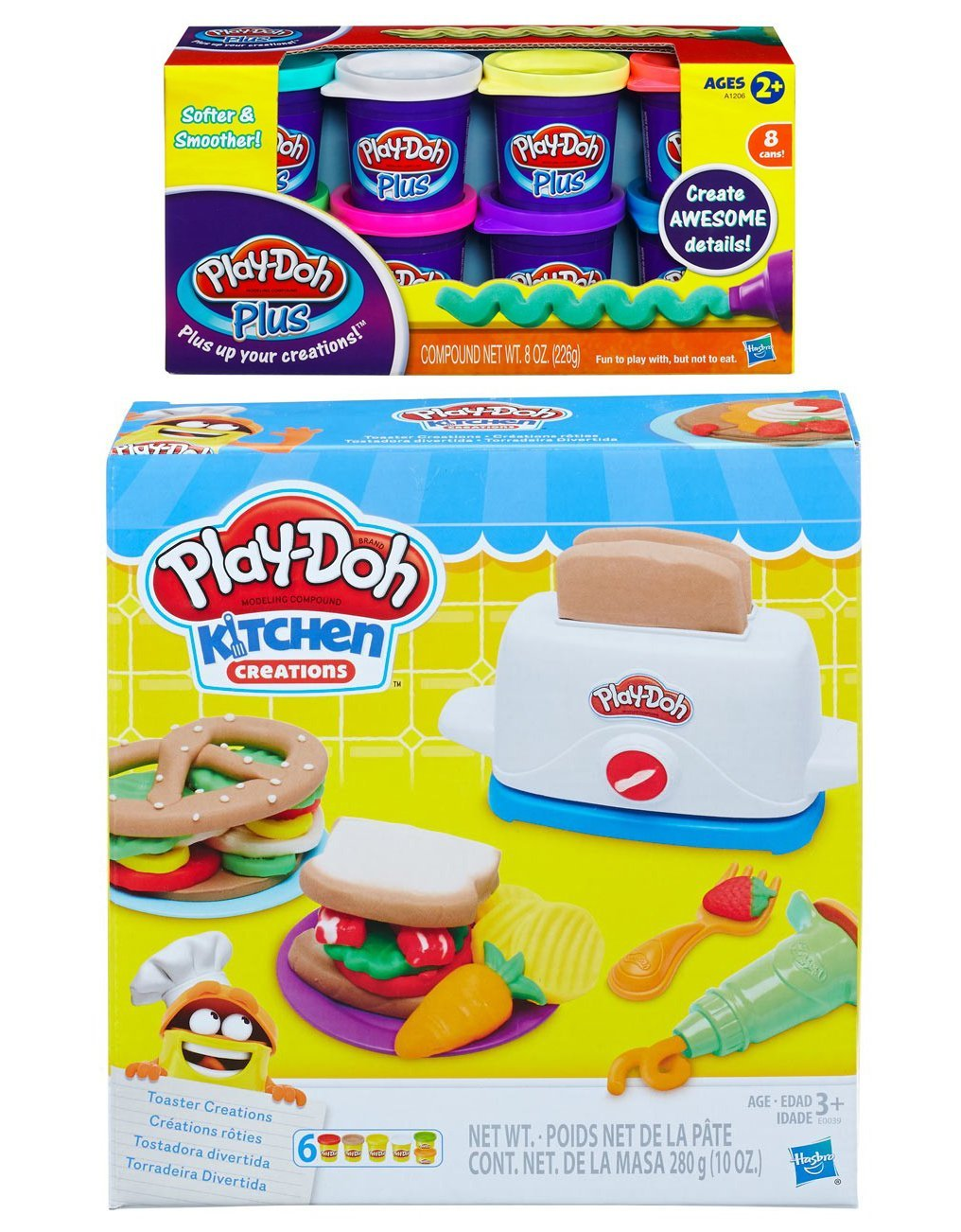 Play-Doh Toaster Creations + Play-Doh Plus Compound Bundle by PD
