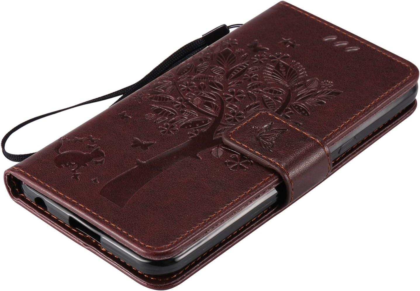 Docrax LG X Power Lederh/ülle - DOKTU41921 Violett Handy H/ülle Leder Klappbar Brieftasche Schutzh/ülle mit Kartenfach Magnetisch Sto/ßfest Handyh/ülle Flip Case f/ür LG X Power K220