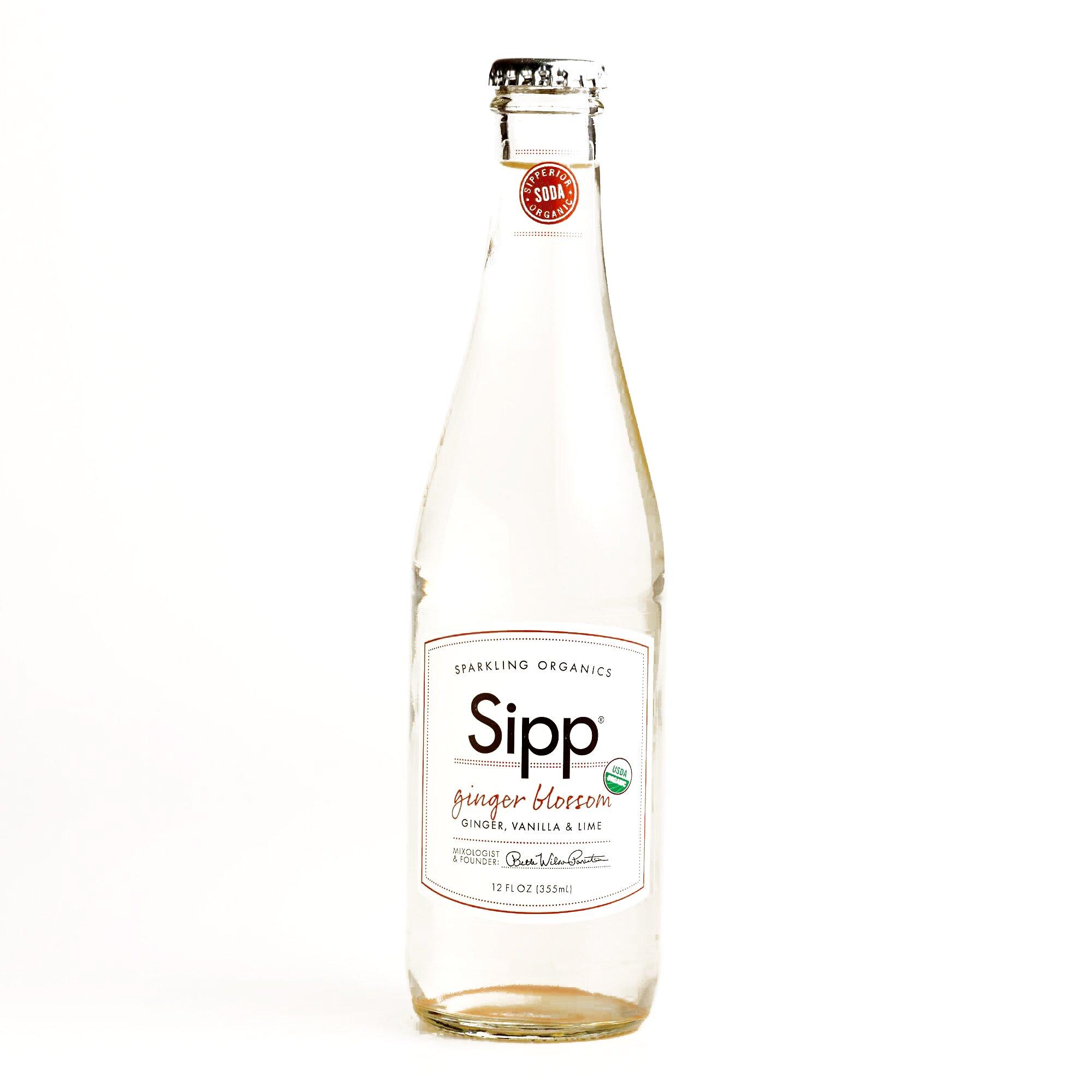 Sipp Organic Ginger Blossom Soda 12 oz each (1 Item Per Order)