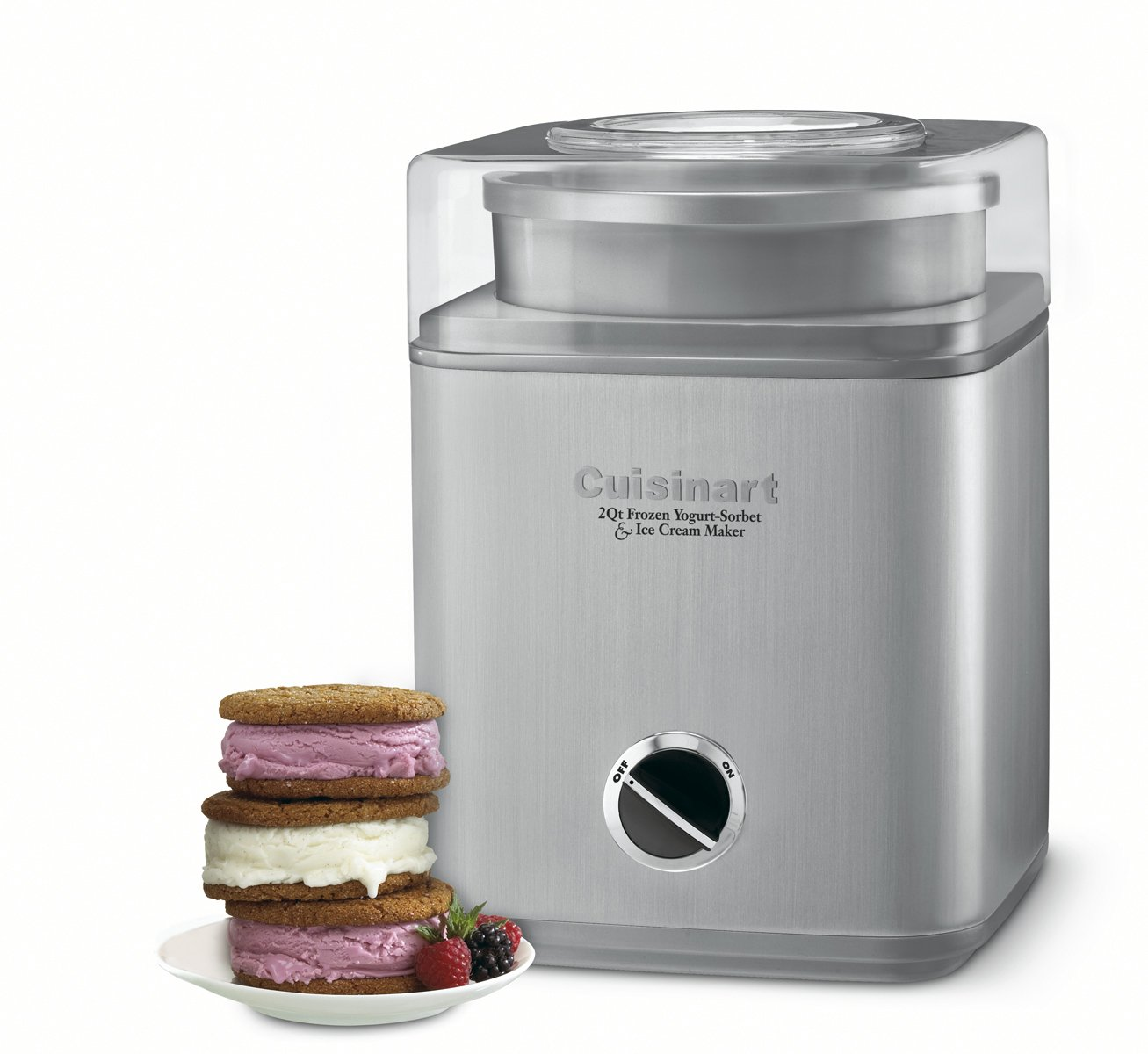Beautiful What Is The Best Ice Cream Maker Part - 13: Cuisinart ICE-30BC Pure Indulgence 2-Quart Automatic Frozen Yogurt, Sorbet,  And Ice Cream Maker