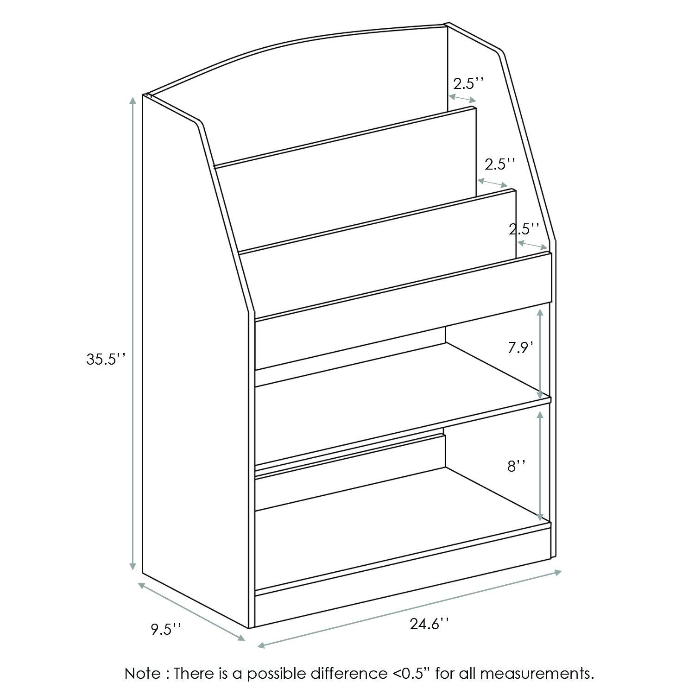 Furinno FR16118LB KidKanac Bookshelf, Light Blue by Furinno (Image #3)