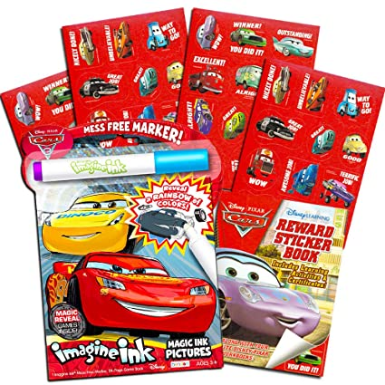 Amazon Com Disney Cars No Mess Coloring Set For Toddlers Kids