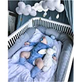 LOAOL Crocodile Baby Braid Crib Bumper Animal Nursery Cradle Decor Newborn Gift Kids Pillow Cushion