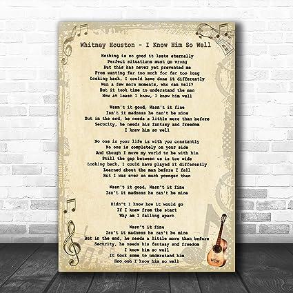 I Know Him So Well - Letra, diseño de guitarra: Amazon.es: Oficina ...