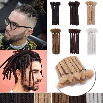 6 Inch Short Dreadlocks Extensions Soft Synthetic Crochet Twist Hair Braids  for Men and Women Faux Locs Dread Hairpieces 10pcs/pack Reggae Hippie