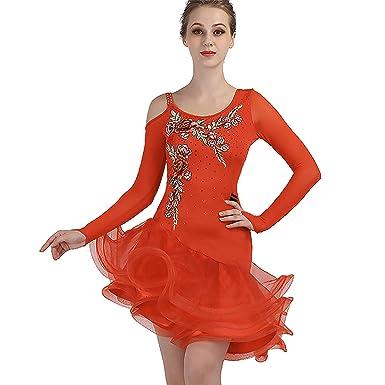 63d48be7c SIQIAN Adult/Child Embroidered Latin Rumba Chacha Jive Samba Party Dance  Evening Modern Dress (