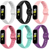 (3&6-Pack) Samsung Galaxy Fit2 SM-R220 replacement Bands, Soft Silicone Galaxy Fit2 Straps for Samsung Galaxy Fit2 Smart Band