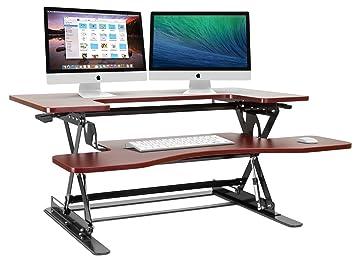 Stand Sit Desks Desk Lamp With Organizer