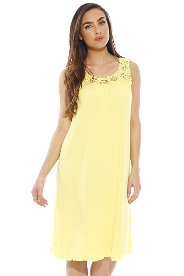 Solo Amor camisón de Seda/para Pijamas de Las Mujeres/Ribete de Ganchillo Vestido de suspensión - Amarillo -: Amazon.es: Ropa y accesorios