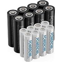 AA AAA oplaadbare batterijen POWEROWL, voorgeladen hoge capaciteit 2800 mAh en 1000 mAh 1,2 V NiMH-batterij Lage…