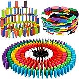 BigOtters 360PCS Super Domino Blocks, 12 Colors Wooden Domino Blocks Building Block Tile Game Racing Educational Toy for…