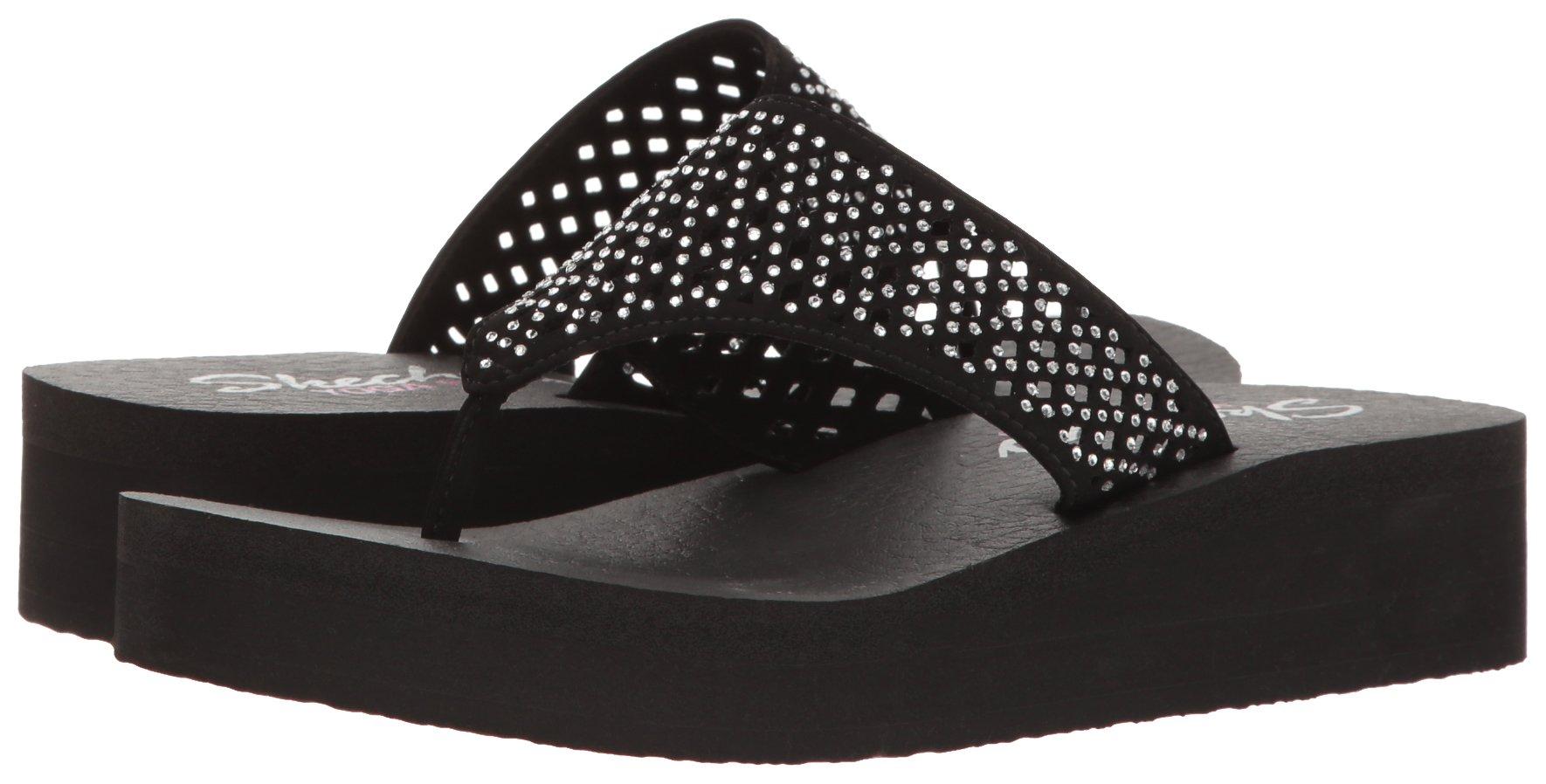 Skechers Cali Women's Vinyasa Flow Wedge Sandal, Black Cutout, 6 B(M) US by Skechers (Image #6)