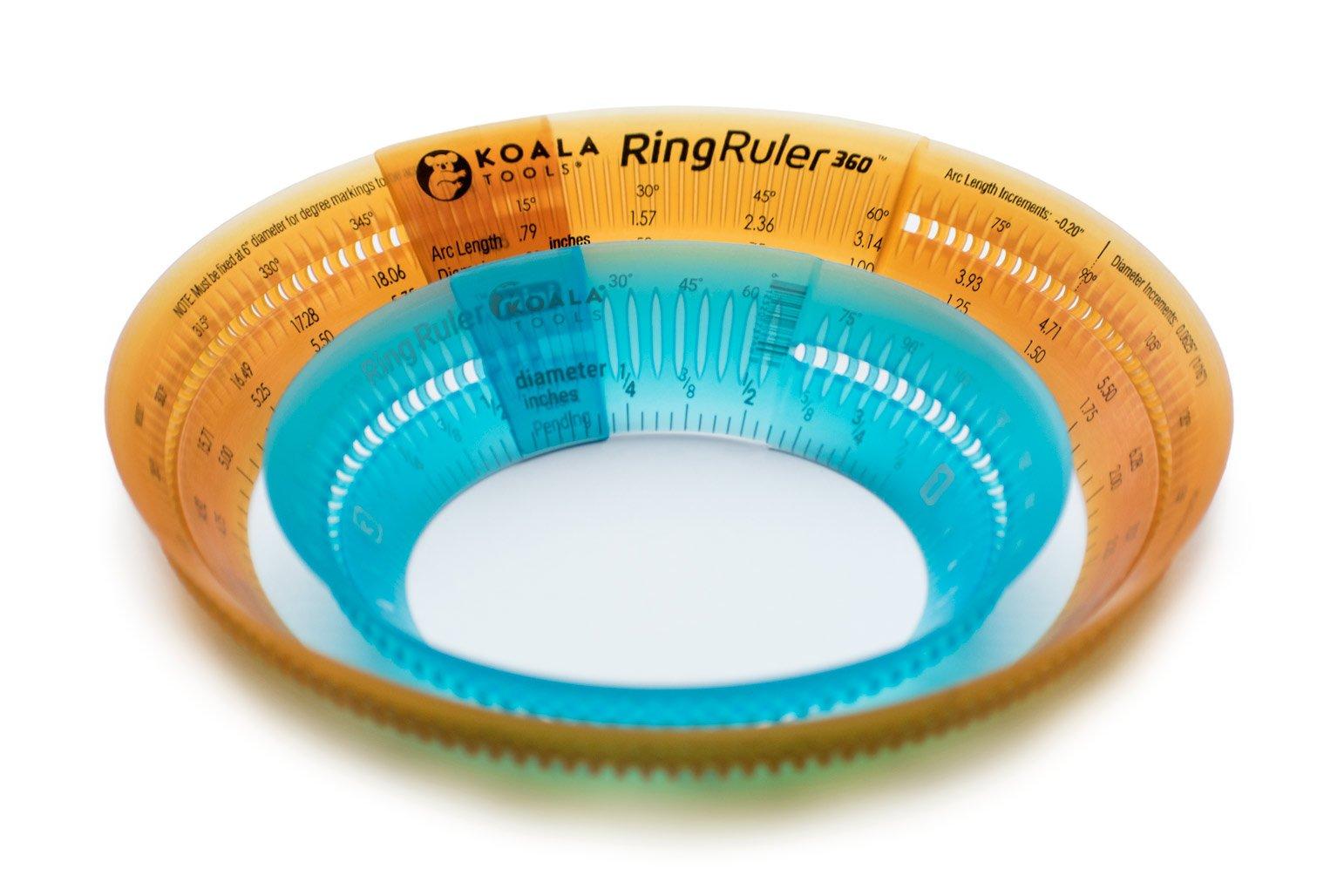Koala Tools | Ring Ruler Combo Pack - Circle Stencil & Templates Tools | 1''- 3.5'' & 3'' - 6'' Adjustable Diameter - Geometric Tool for Drawing Circles