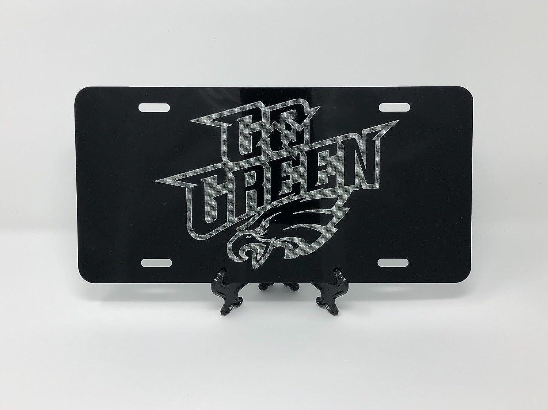 Black Metal License Plate Frame NFL Official License Philadelphia Eagles Official NFL Set of 2
