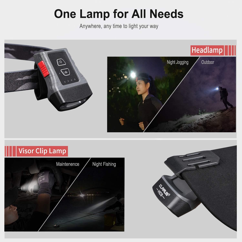klarus HC3 LED Clip On Cap Leicht 5 Weiss und Rotlicht mit Sensorsteuerung