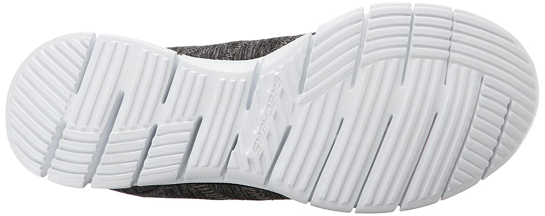 Skechers Sport B00VVFZDXM Women's Glider Electricity Sneaker B00VVFZDXM Sport 6 B(M) US|Black/White bf9011