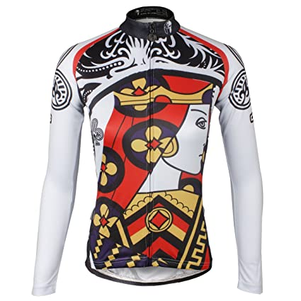 6cf4d41b8 Ilpaladino Women s Bike Shirts Long Sleeve Club Pattern Cycling Jerseys  Size XXS