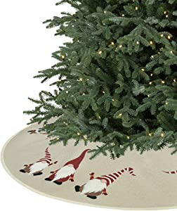Pknoclan Christmas Tree Skirt, Burlap Xmas Tree Skirts for Christmas, Party Holiday Decorations Xmas Ornaments, 48 Inch