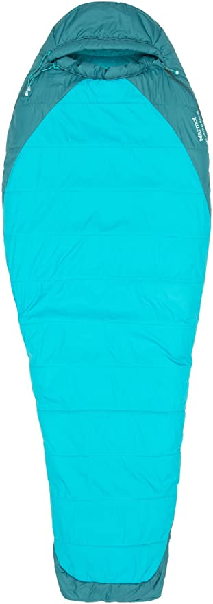 Marmot WM s Trestles Elite 30 Long Saco de Dormir, Sea Green/Sea