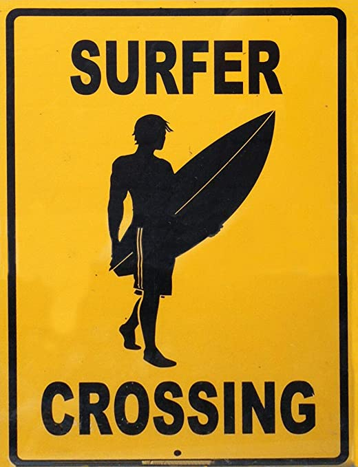 HALEY GAINES Surfer Crossing Placa Cartel Póster de Pared ...