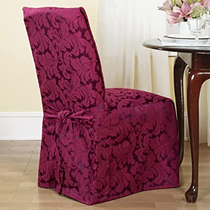 Amazoncom Sure Fit Scroll Long Dining Room Chair Slipcover Home