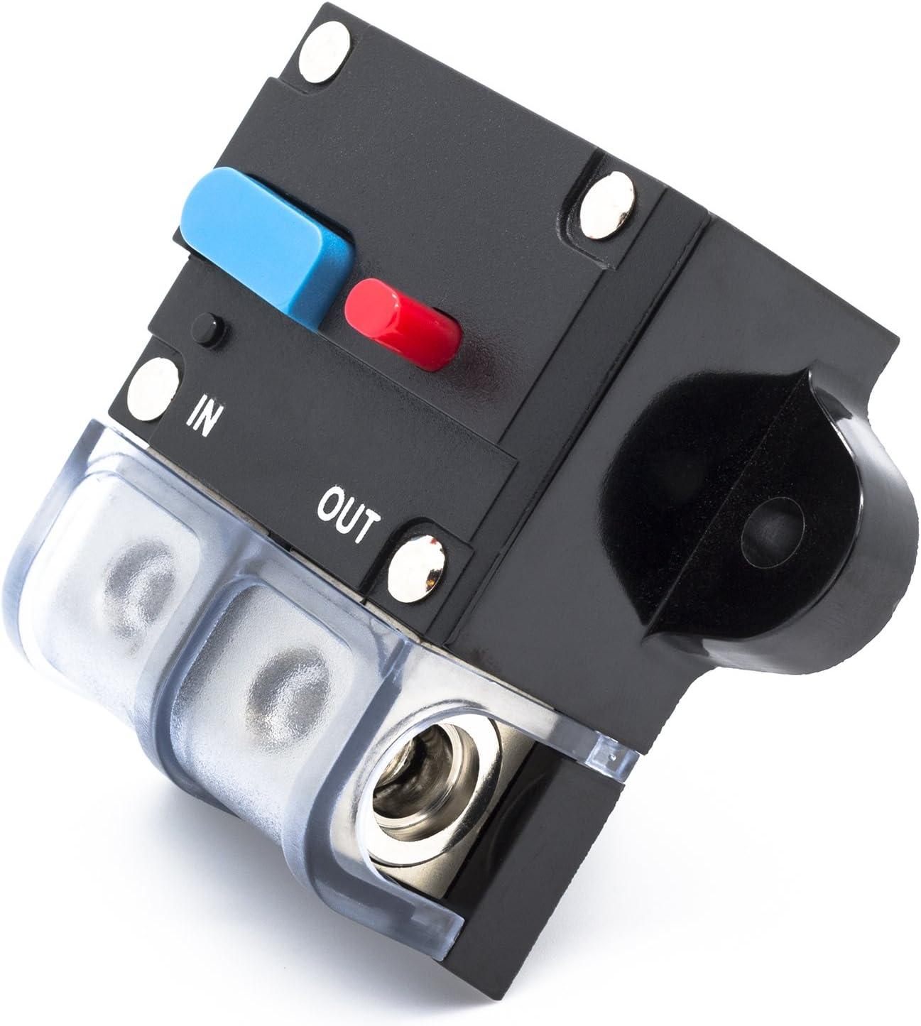 24 V Spritzwasserschutz f/ür Auto Boot Motorrad usw Adapter Universe 100 A Automatische Sicherung Automatik Schalter 12 V