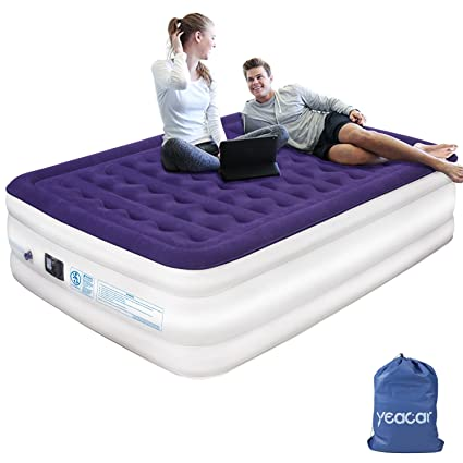 Amazon Com Yeacar Air Mattress Blow Up Raised Airbed With Internal