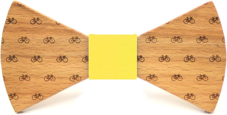 Regalo elegante y original Territorial Pajarita de madera Bike Nudo a elegir Colecci/ón de moda hombre: Confeccionada en Espa/ña Wood L/ínea boda y eventos