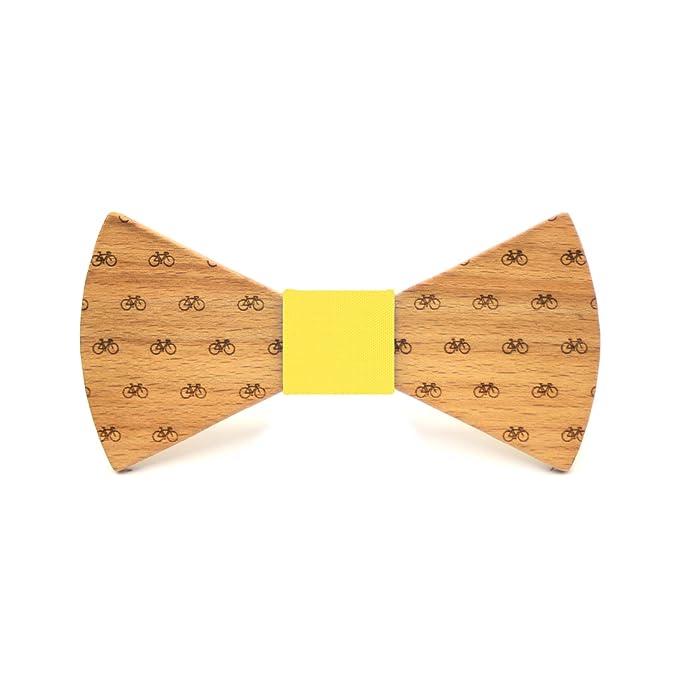 Territorial Pajarita de madera Bike. Colección de moda hombre: Confeccionada en España Wood. Línea boda y eventos. Regalo elegante y… 5pRjl