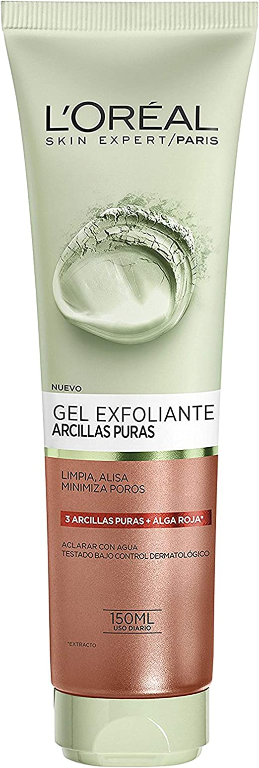 L Oreal Paris Dermo Expertise Arcillas Puras Gel Limpiador Exfoliante Color Rojo 150 Ml Amazon Es Belleza