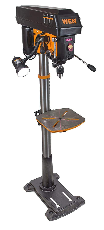 WEN 4225 8.6-Amp Variable Speed Floor Standing Drill Press, 15-Inch
