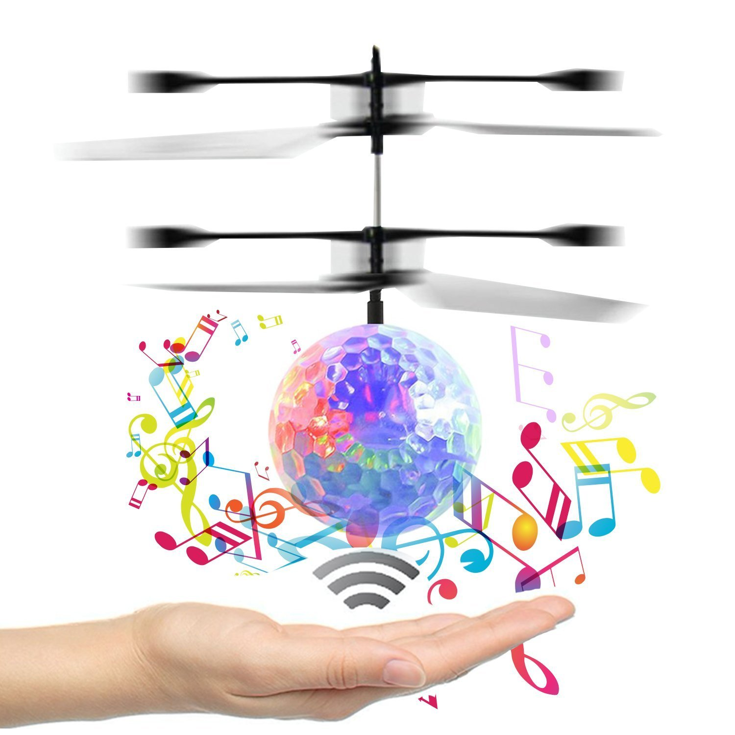 Amazon Mini Induction Flying Disco Ball New Version RC