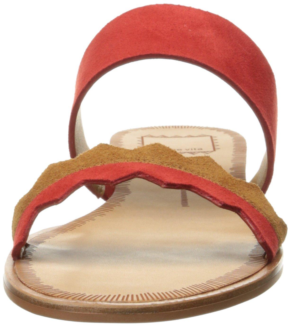 Dolce Vita Women's Pacer Wedge Sandal B01MY765NI 6 B(M) US|Red/Multi Suede