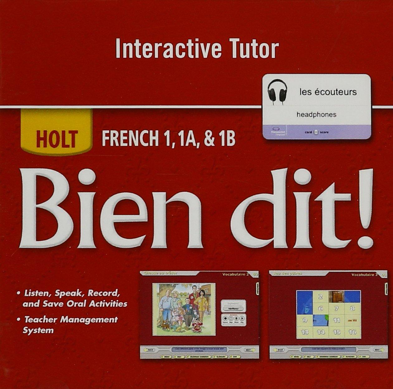 Amazon.com: Bien dit!: Interactive DVD Tutor Level 1A/1B/1 (9780030797378):  RINEHART AND WINSTON HOLT: Books