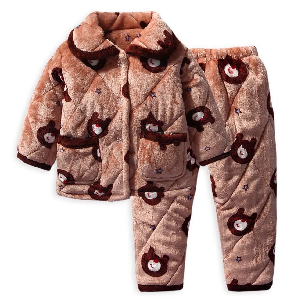 OPPP Pijamas de niños Pijamas Acolchados para niños otoño e ...
