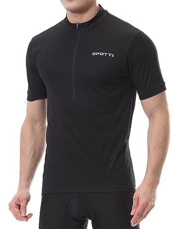 Spotti Men s Cycling Bike Jersey Short Sleeve with 3 Rear Pockets- Moisture  Wicking ff872a23f