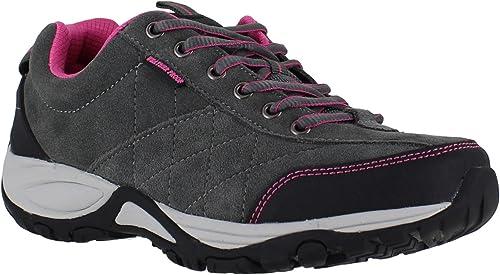 Scarpe da camminata da donna foderate, leggere e impermeabili, con suola in memory foam e chiusura con lacci, scarpe comode ideali per camminare