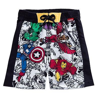 f54ac204e Amazon.com: Marvel Avengers Swim Trunks for Boys Size 5/6 White ...