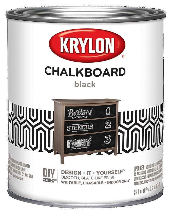 Amazon.com: Krylon i01804000 Pizarra Azul Matte Spray de ...
