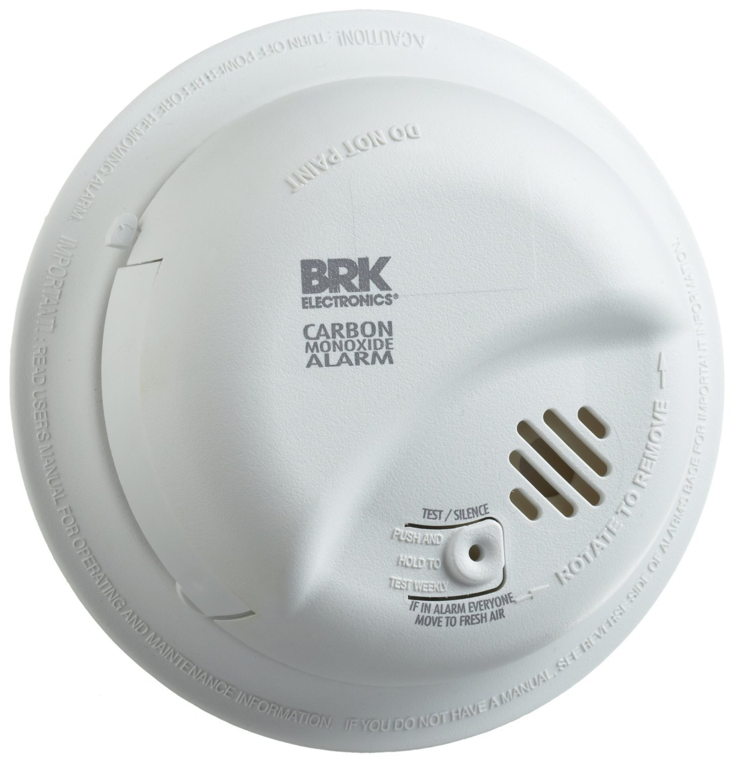 BRK Brands CO5120BN Hardwire Carbon Monoxide Alarm with Battery ...